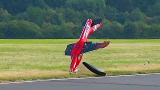 CRASH RC JET MODEL FLIES WITH ONLY ONE WING / Jet Power Fair 2016