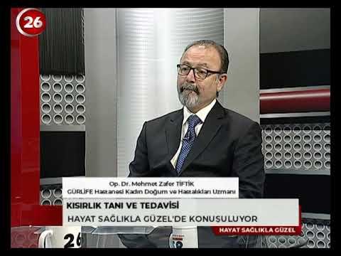 OP. DR. MEHMET ZAFER TİFTİK  KANAL 26  HAYAT SAĞLIKLA GÜZEL - 8 EKİM 2019