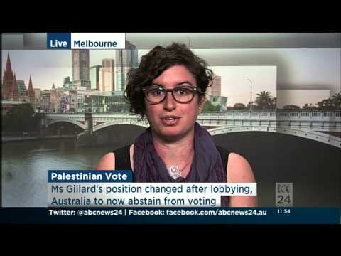 Ross Burns and Jordy Silverstein interviewed re. Palestinian UN Bid on ABC News 24 28/11/2012