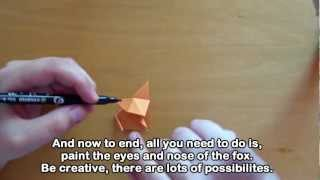 Origami Cute Fox. Easy. Tutorial