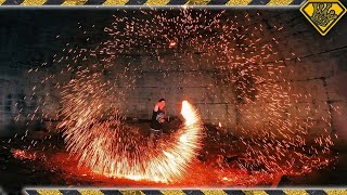 Steel Wool and Batteries Have a CRAZY Reaction