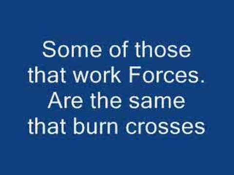 Rage Against The Machine - Killing In The Name Lyrics video