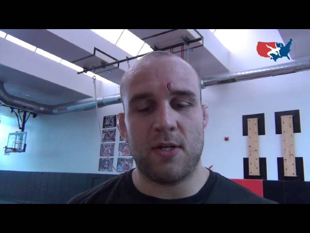 Olympian Tervel Dlagnev at National Freestyle camp in New Jersey
