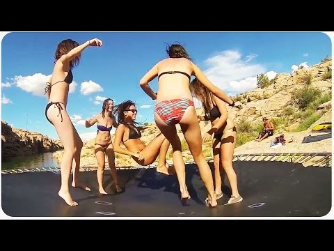 Arizona Cliff Diving Party | Trampoline For Everyone