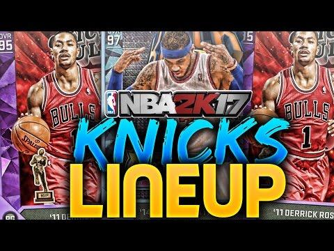 NBA 2K17 New York Knicks Lineup In MyTEAM! DRose On The Knicks! NBA 2K16!
