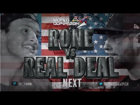 KOTD - Rap Battle - Real Deal vs Rone