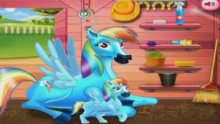 My Little Pony Rainbow Dash And The Newborn Baby Game