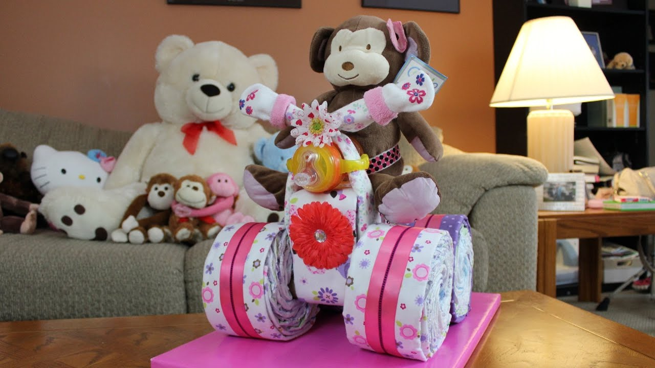 How To Make A  Wheeler Diaper Cake