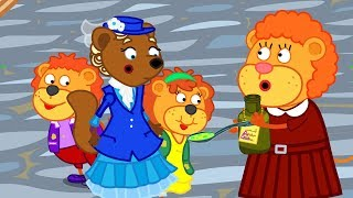 Lion Family Mary Poppins Cartoon for Kids