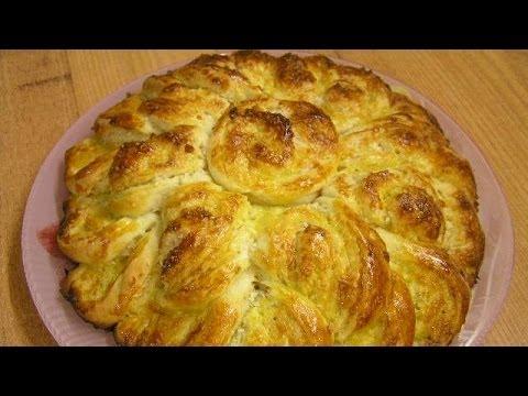 Дрожжевые пироги Хризантема по бабушкиному рецепту - видео рецепт