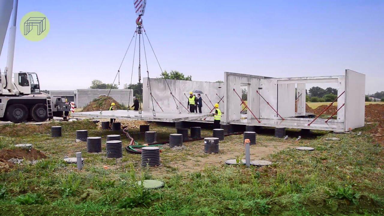 Les constructions modulaires en b ton pr fabriqu youtube for Maison en beton banche
