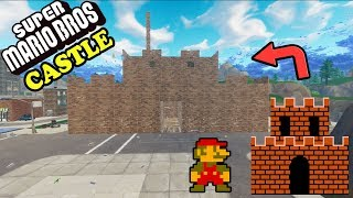 Building the castle from SUPER MARIO BROS | Fortnite Custom Game | Goofin Group