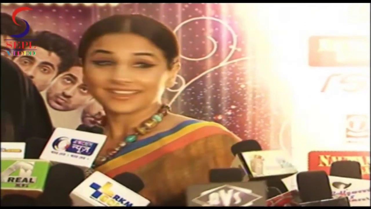 vidya balan in traditional saree at the special screening
