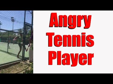 Angry Tennis Player Chases Umpire | Full Version