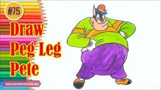 Step by Step Draw Peg Leg Pete - Drawing tutoria #75