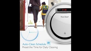 Demo Pure Clean Automatic Programmable Vacuum Cleaner- Auto Home Clean Carpet Hardwood Floor,