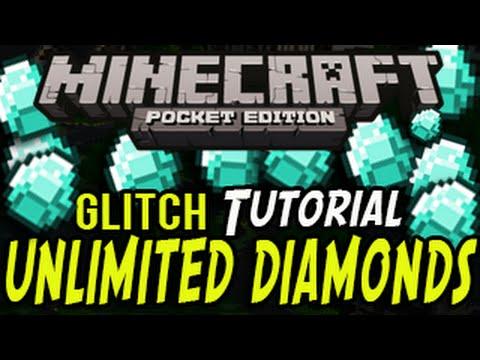 Minecraft Pocket Edition: UNLIMITED DIAMOND GLITCH (DUPLICATION GLITCH)
