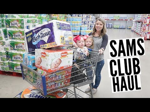 SHOP WITH ME   SAMS CLUB HAUL   STOCKING UP ON ESSENTIALS