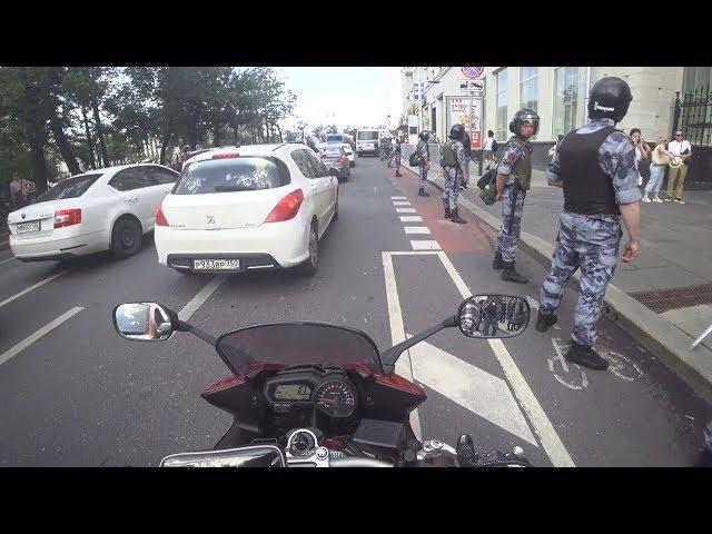 Протесты в Москве. Вид с дороги (МБ 76)