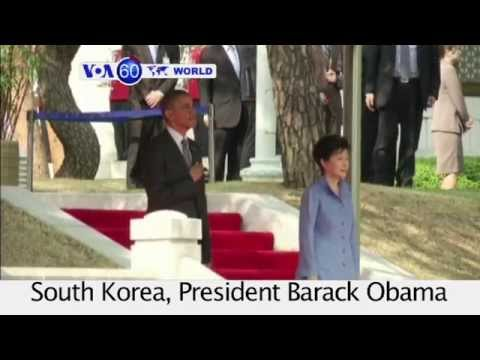 Korea : Obama reaffirms commitment to Seoul in event of provocation from North. VOA60 World 0425