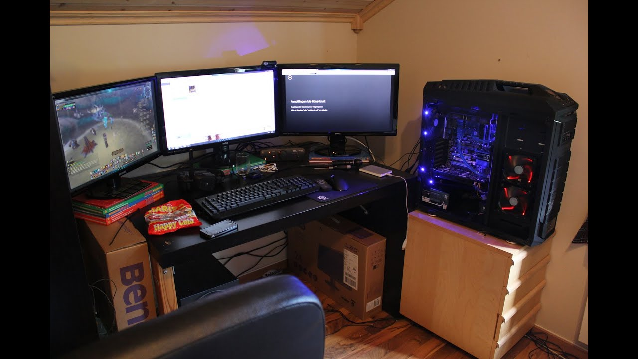 My Awesome Gaming Setup 2013 Youtube