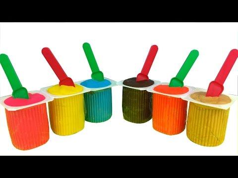 Play Doh Surprise Color Yogurt Teletubbies My Little Pony Spongebob Hello Kitty Disney Princess video