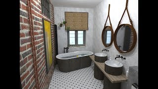 Petr Molek - očkodesign - koupelna s industriálními prvky (jak navrhnout koupelnu)
