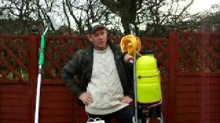 Window cleaning Tips - Backpack Trolley System
