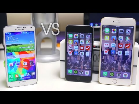 iPhone 6 vs iPhone 6 Plus vs Samsung Galaxy S5 - Full Comparison