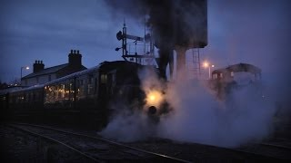 O&K No. 1 departs from Downpatrick after dark - 15th December