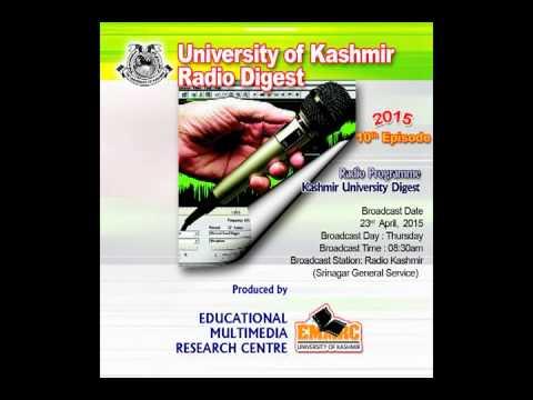 kashmir university Radio Digest 23 04 2015