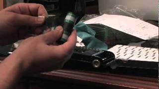 Loading medium format 120 film into a folding camera