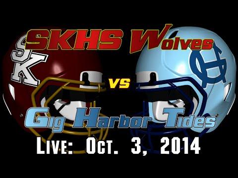SKHS Wolves Football vs Gig Harbor Tides - October 3, 2014