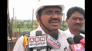 AP Minister Narayana Visits AP Capital Amaravati Construction Site