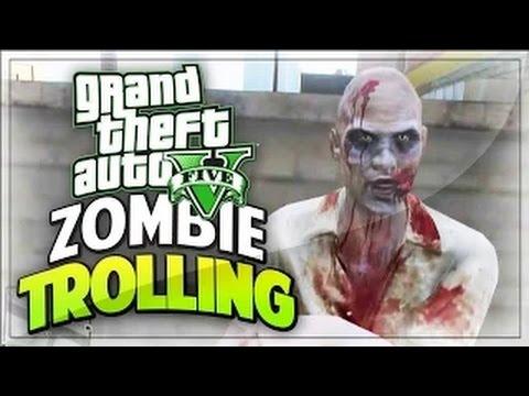 ZOMBIES IN GTA ONLINE! - (GTA 5 TROLLING KIDS / FUNNY MOMENTS)