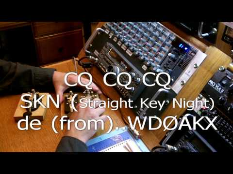 Straight Key Night 2013 UTC In The Ham Radio Shack