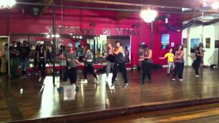 Tari Shen taking Leslie Scott's Class at Millennium Dance Complex