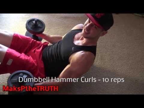 Biceps And Chest Workout At Home With 2 Dumbbells!