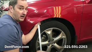 Toyota Venza paintless dent repair. Merritt Island, Cocoa, Cocoa Beach, Melbourne, Titusville.