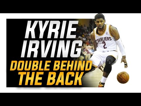 How to: Kyrie Irving Double Behind the Back (CRAZY HANDLE)   NBA Basketball Moves
