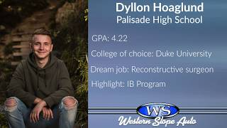 Western Slope Auto Student of the Week: Dyllon Hoaglund