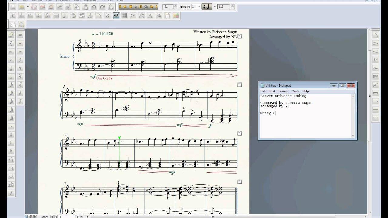 Steven Universe Ending - Piano Arrangement - YouTube