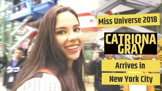MISS UNIVERSE CATRIONA GRAY ARRIVES IN NEW YORK