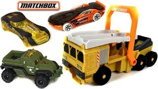 MATCHBOX POWER LAUNCHER MILITARY TRUCK WITH CAR INCLUDED - LOAD LAUNCH RACE & PLAY FUN - UNBOXING