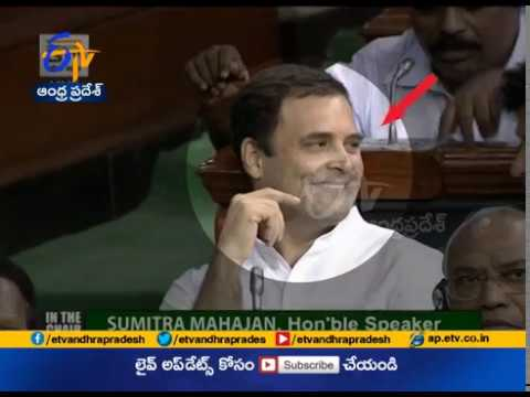 Winks An Eye | Hugs PM Modi | Rahul Gandhi Grabs Attention | In No Confidence Motion Debate