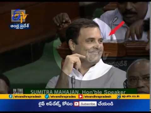 Winks An Eye | Hugs PM Modi | Rahul Gandhi Grabs Attention | In No Confidence Motion Debate