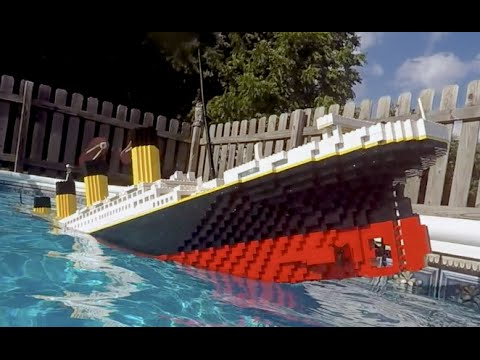 Sinking LEGO Titanic [7 foot model]