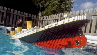 Sinking LEGO Titanic [7 foot model]