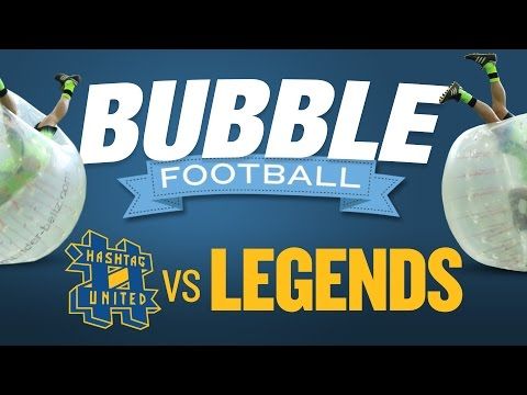 BUBBLE FOOTBALL | Manchester City Legends v Hashtag United