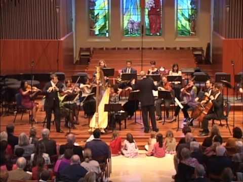 Mozart: Concerto for Flute & Harp, Mvt 1: Höskuldsson, Hoffman, Met Players